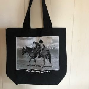 Cute Black Cotton Tote for Pet Lovers